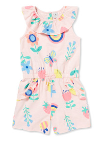 Multicoloured Floral Print Playsuit (9 months-6 years)