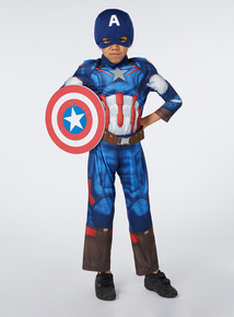 Kids Multicoloured Disney Captain America With Shield