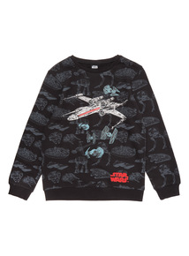 Black Star Wars Jumper (3-14 years)