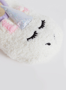 Cream Unicorn Ballerina Slippers (9 Infant - 5.5 Adult)