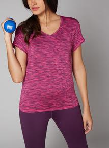 Pink Space Dye T-Shirt