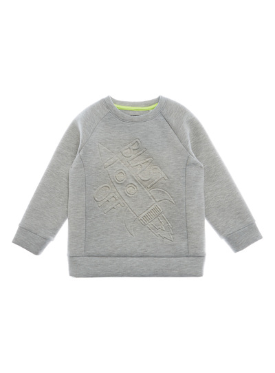 Grey Rocket Embossed Sweat Top (9 months - 5 years)