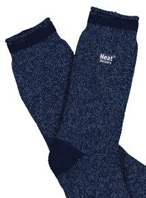 Heat Holders Mottled Blue Sock