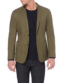 Khaki Slim Fit Jacket