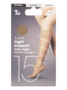 Bamboo Knee High Tights 2 Pack