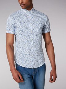 Admiral Blue and White Paisley Shirt