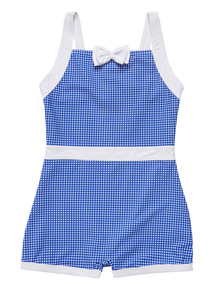 Multicoloured Gingham 50's Swimsuit (3 - 12 years)