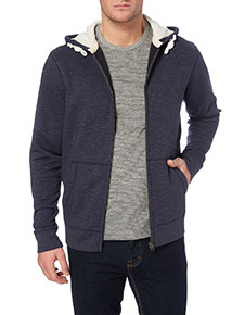 Navy Fabric Interest Sweat
