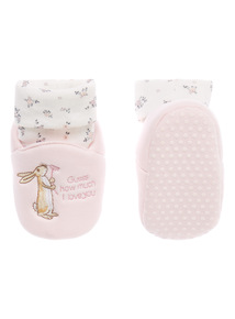 Girls Pink Guess How Much I Love You Booties (0-24 months)