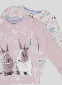 Multicoloured Printed Pyjamas 2 Pack (18 Months - 12 Years)