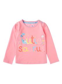 Girls Pink Cutiesaurus Top (0-24 months)