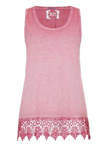 Purple Oil Wash Lace Vest