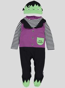 Halloween Multicoloured Monster Sleepsuit (0-12 Months)