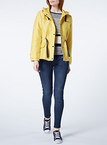 Yellow Nautical Drawcord Jacket