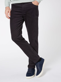 Online Exclusive Black Slim Fit Cords With Stretch