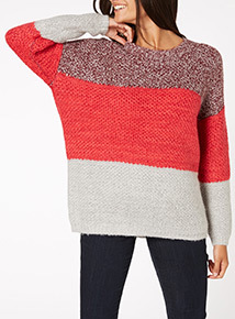 Colour Block Stitch Jumper