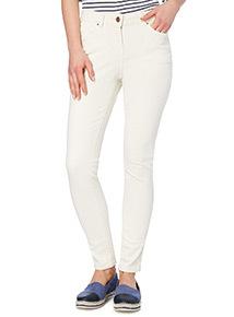 Cream Ankle Grazer Jeans