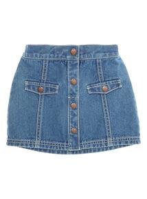 Blue Button Through Skirt (9 months-6 years)