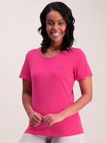 Pink & Cream Pyjama Tops 2 Pack