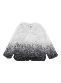 Girls Multicoloured Faux Fur Short Coat (3-12 years)
