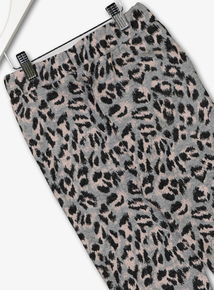 Grey Leopard Print Joggers (3-14 Years)