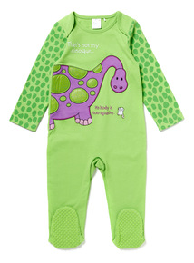 Green Thats Not My Dino Sleepsuit (Newborn - 24 months)