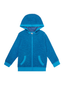 Boys Blue Zip Through Hoodie (9 months - 6 years)