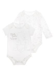 Unisex Cream Winnie the Pooh Bodysuit 2 Pack (0-24 months)