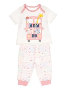 Pink Animal PJ Set (0-24 Months)