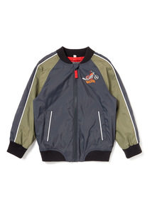 Grey Badged Bomber Jacket (9 months-6years)