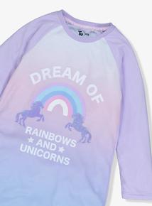 Multicoloured Unicorn Nightie & Socks Set (3-13 Years)
