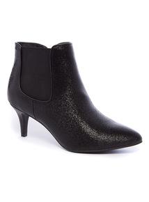 Black Glitter Shoe Boot