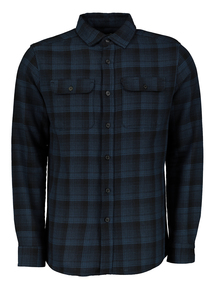 Blue Ombre Check Overshirt