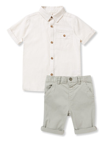 Multicoloured Smart Shirt and Shorts Set (12 months-6years)