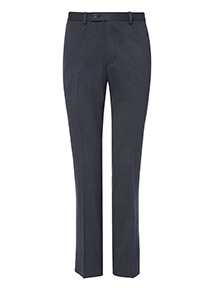 Grey Regular Fit Trousers With Stretch