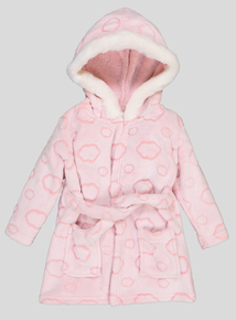 Pink Cloud Hooded Dressing Gown (0 - 24 Months)