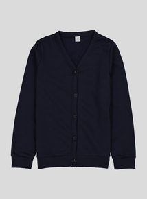 Navy Sweat Cardigans 2 Pack (3-12 years)