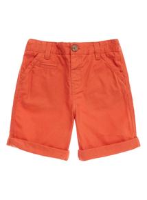 Boys Orange Chino Shorts (9 months-5 years)
