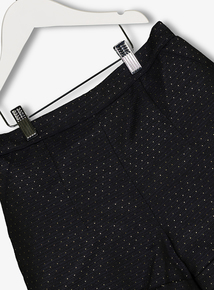 Black Jacquard Metallic Gold Dotty Shorts (3-14 years)