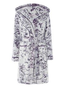 Owl Print Robe