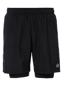 Admiral Black Woven Shorts With Base Layer