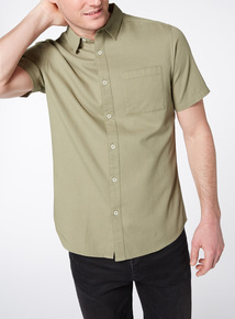 Green Textured Shirt