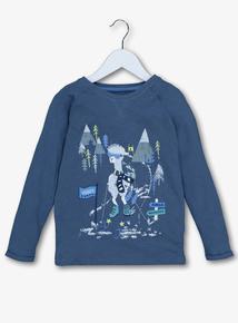 Blue Alpaca Ski Jersey Top (9 Months - 6 Years)