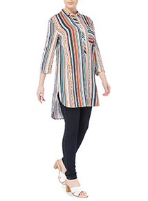 Multicoloured Stripe Tunic