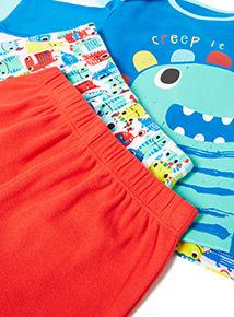 2 Pack Multicoloured Creep It Real Pyjamas (0-24 months)