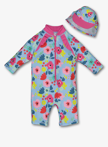 Multicoloured Floral Sunsafe Swim Set (0-24 months)