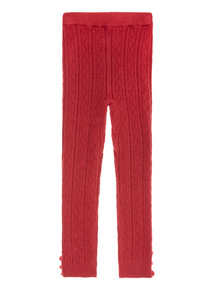 Red Knitted Legging (9 months-6 years)