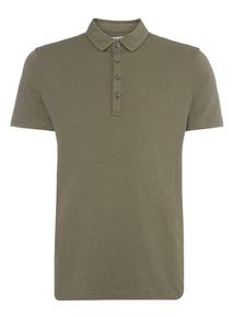 Khaki Jersey Polo Shirt