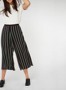 Stripe Wrap Leg Culottes