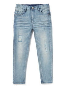 Light Denim Ripped Slim Jeans (3-14 years)